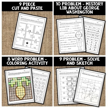 Multiplying Whole Numbers and Fractions Activity Pack 6.NS.A.1