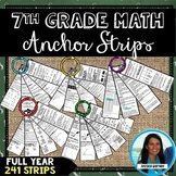 7th Grade Math Anchor Strips: Full Year Bundle