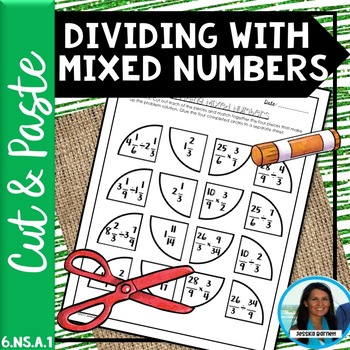Dividing with Mixed Numbers Cut and Paste 6.NS.A.1