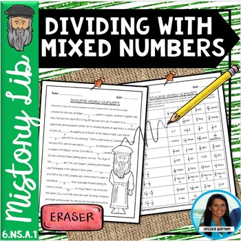 Dividing with Mixed Numbers Mistory Lib 6.NS.A.1