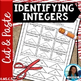 Identifying Integers Cut and Paste Activity 6.NS.C.5