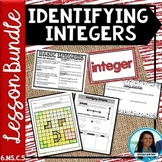 Identifying Integers Lesson Bundle 6.NS.C.5