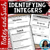 Identifying Integers Notes and Such 6.NS.C.5