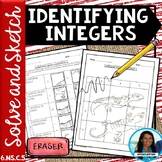 Identifying Integers Solve and Sketch Activity 6.NS.C.5