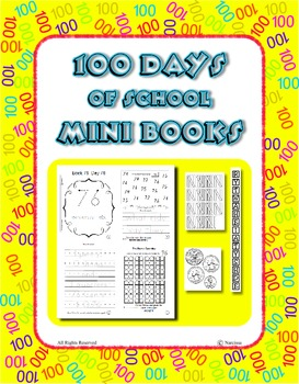100 Days of School Mini Books ~ 100 Printable Books ~ Money - Sight Words - more