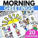 Morning Greeting Choices | Morning Meeting Signs