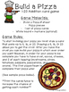 1-20 Addition Card Game {Build A Pizza}