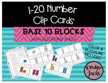 1-20 BASE TEN Number Clip Cards