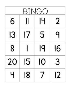 1-20 Bingo