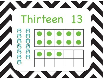 1-20 Classroom Numbers Poster