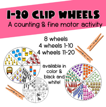 1-20 Clip Wheels - Counting & Fine Motor Activity
