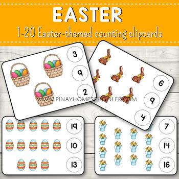 1-20 Counting Clipcards Math Activities BUNDLE SET 3