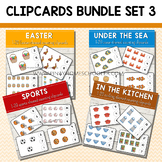 1-20 Counting Clipcards Math Activities BUNDLE SET 3