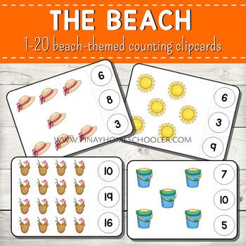 1-20 Counting Clipcards Math Activities BUNDLE SET 4