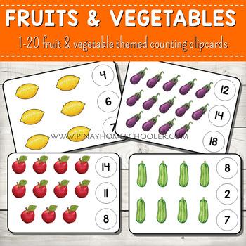 1-20 Counting Clipcards Math Activities BUNDLE SET 2