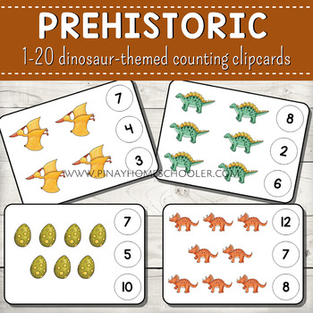 1-20 Counting Clipcards Math Activities BUNDLE SET 2