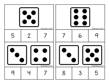 1-20 DICE Number Clip Cards
