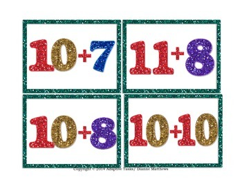 #1-20 Domino and Math Fact Task cards