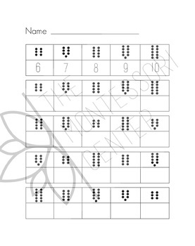 1-20 Dot Counting and Numeral Writing