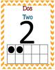 1-20 Dual Language Ten Frame Posters