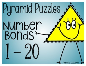 1 - 20 Fact Families and Number Bond Pyramid Puzzles and A