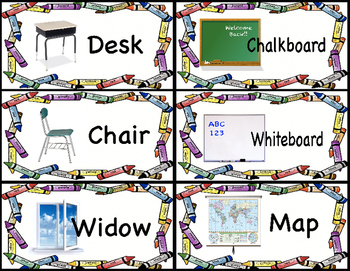 Classroom Object Labels