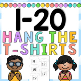 1-20 Hang the T-shirts Numeracy Activity - Game - 4 pages