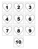 1-20 Heart Numbers to Put in Order