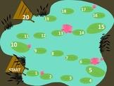 1-20 Lily Pad Math Game Board