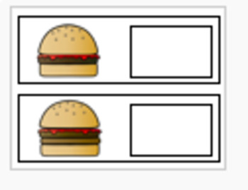 1-20 MATH CENTER- COUNTING BURGERS