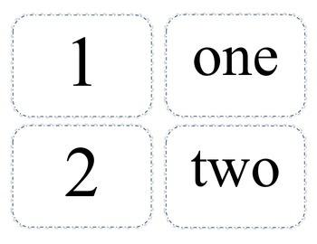 1-20 Matching - Number/Number Word/Base Ten