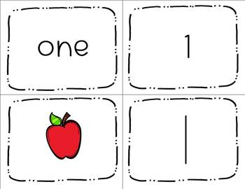 1-20 Matching Numbers Activity