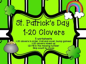 1-20 Math Worksheets- St. Patrick's Day