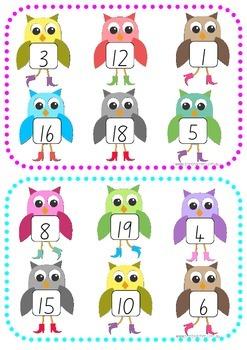 1-20 Number Bingo