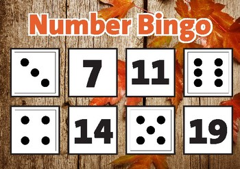 1-20 Number Bingo - Subitising & Numeral Recognition