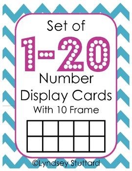 Number 1-20 Display
