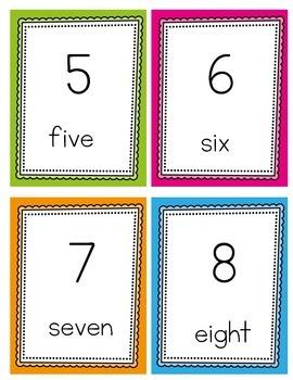1-20 Number Cards