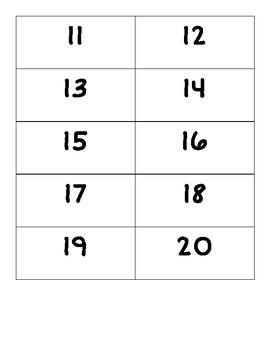 1-20 Number Cards *no fancy four