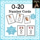 1-20 Number Cards with Finger Counting Visual Supports