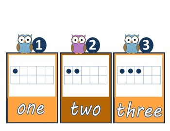 1-20 Number Cards with Ten Frame