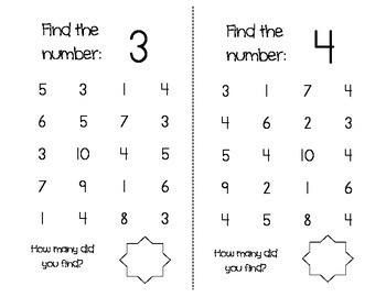 1-20 Number Find, 1-10 Number Maze, and BINGO game
