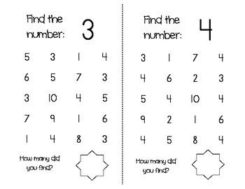 1-20 Number Find, 1-10 Number Maze, and BINGO game
