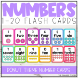 1-20 Number Flash Cards Donut Theme