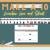 1-20 Number Line Poster and Student Make a Ten Number Line Sheet