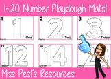 1-20 Number Playdough Mats