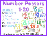 1-20 Number Posters