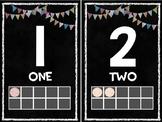 1-20 Number Posters - Black
