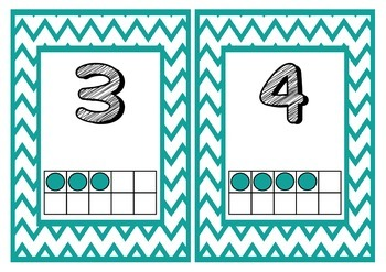 1-20 Number Posters with Counting Frames