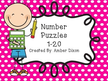 1-20 Number Puzzles For Kinders