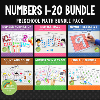 1-20 Number Formation and Recognition Bundle